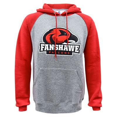 buy popular 84182 2c0f9 Falcon Colourblock Hoodie Oxford/Red - Fanshawe College ...